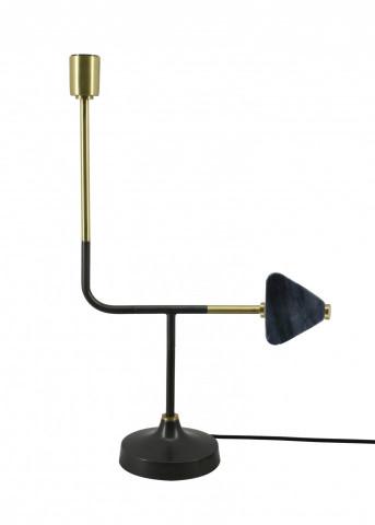 Lampa decorativa din fier/cupru Casey neagra, un bec
