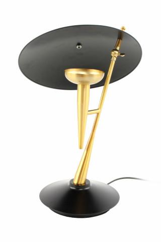 Lampa decorativa din fier Flyer aurie/ neagra, un bec