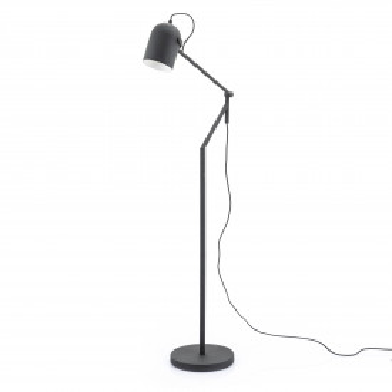 Lampadar din metal Sleek negru, un bec
