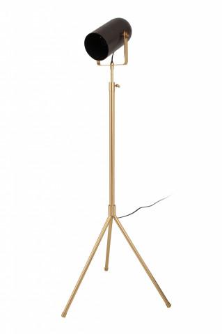 Lampadar din otel/alama/fier Celeste, negru/auriu, un bec 27x53x133-163 cm