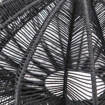 Lustra din bambus Nimbus neagra, un bec