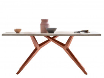 Masa dreptunghiulara cu blat din lemn de stejar Tables&Co 200x100 cm maro deschis/maro inchis
