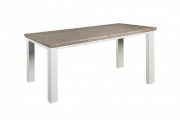 Masa dreptunghiulara din lemn de pin 160x90x78 cm alb/maro