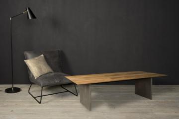 Masuta de cafea dreptunghiulara din lemn 135x75x35 cm maro/gri