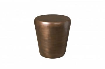 Masuta de cafea in forma de toba din metal 53x53x56 cm alama