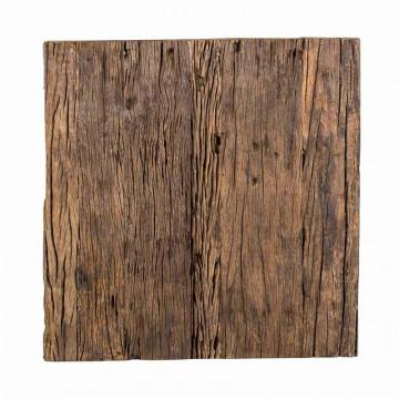 Masuta de cafea patrata din lemn Kensington 45x45x58 cm maro