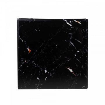 Masuta de cafea patrata din sticla Dante 63x40x40 cm neagra