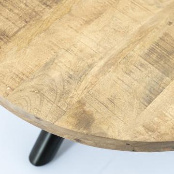 Masuta de cafea rotunda din lemn de mango Otto 70x70x35 cm maro deschis