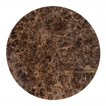 Masuta de cafea rotunda din marmura si metal Dalton 35x90x90 cm maro