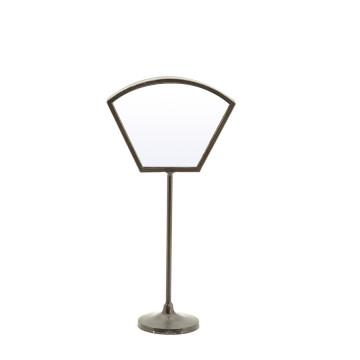 Oglinda cu picior cu rama din fier Vanity one, 18,5 x 9 x 37 cm