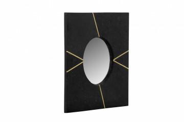 Oglindă cu rama din marmura neagra Dexter 41x41x2 cm