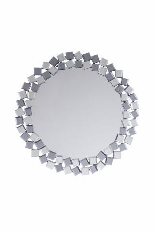 Oglinda rotunda Mosaic Argintiu / Gri