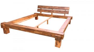Pat din lemn masiv de salcam 160 x 200 cm