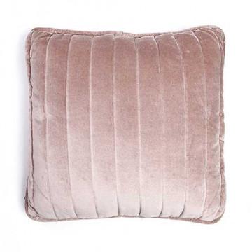 Perna din bumbac si velur Lucy 45x45 cm roz