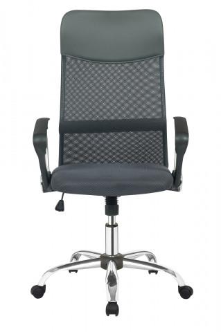 Scaun de birou rotativ din imitatie de piele si plasa negru