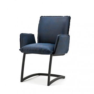 Scaun din piele Joel albastru