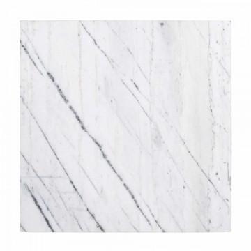 Set 2 masute pentru plante cu blat din marmura Carrara 95x110 cm