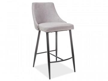 Set 2 scaune de bar tapitte Nobel gri