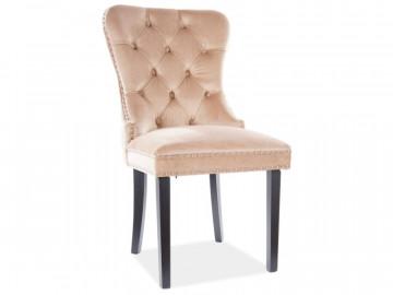 Set 2 scaune din catifea August bej