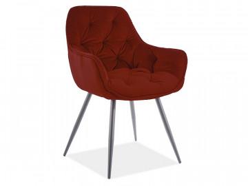 Set 2 scaune din catifea Cherry rosu mat