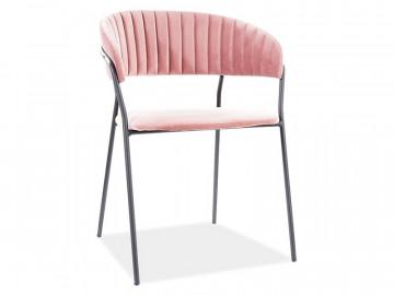 Set 2 scaune din catifea Lira roz