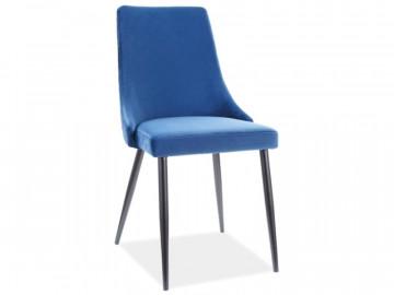 Set 2 scaune din catifea Piano albastru marin