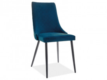 Set 2 scaune din catifea Piano albastru mat