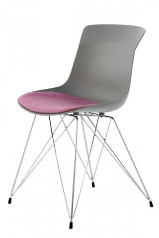 Set 2 scaune Emily gri/mov