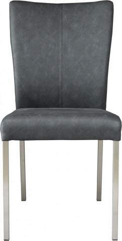 Set 2 scaune piele artificiala Roma negre