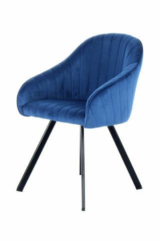 Set 2 scaune tapitat Jodie albastru inchis