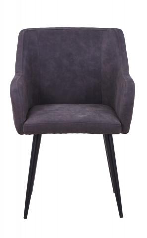 Set 2 scaune tapitate cu aspect de piele intoarsa Sit&Chairs gri