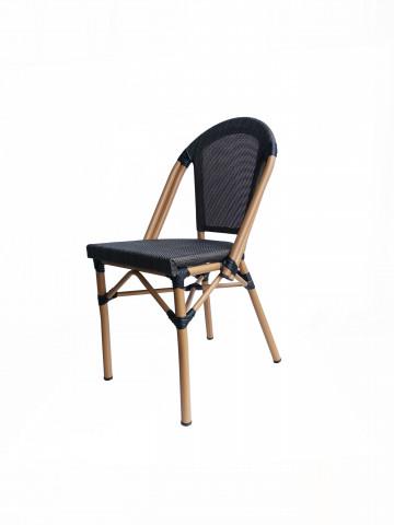 Set 2 scaune tapitate cu cadru de aluminiu Sit&Chairs bej/gri