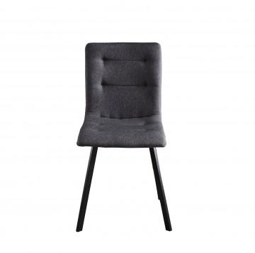 Set 2 scaune tapitate cu cadru din otel gri inchis