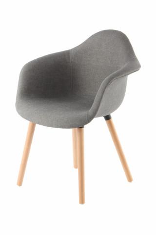 Set 2 scaune tapitate Winston Grey