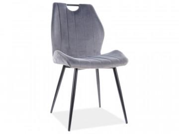 Set 4 scaune din catifea Arco gri