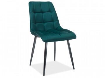 Set 4 scaune din catifea Chic verde mat