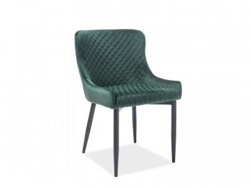 Set 4 scaune din catifea Colin verde / negru