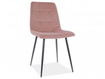 Set 4 scaune din catifea Mila roz mat
