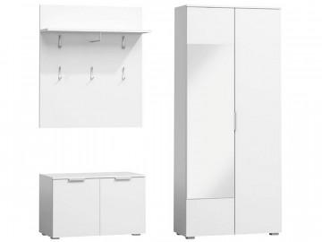Set pentru hol din lemn 180 x 160 x 45 cm alb
