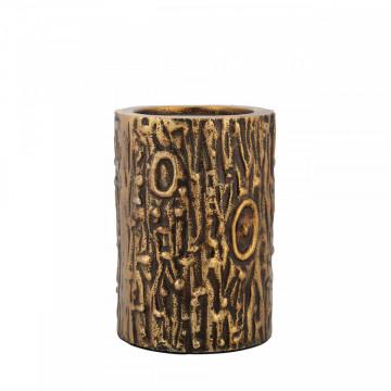 Suport lumanare din metal Amal, bronze