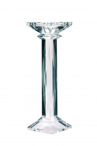 Suport lumanare din sticla de cristal Petunia III, transparent