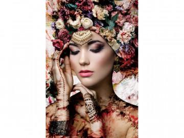 Tablou din sticla Flower Woman II 80 x 120 cm