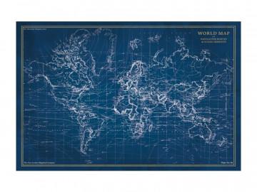 Tablou din sticla Map 120 x 80 cm