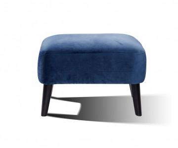 Taburet din catifea 65x49x45 cm albastru