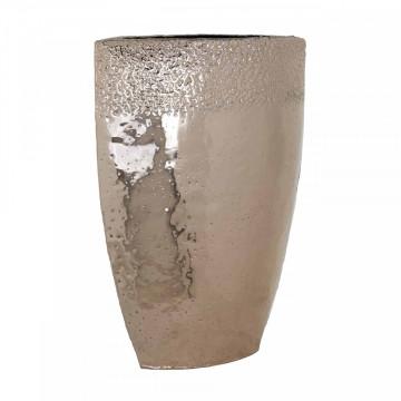 Vas decorativ din aluminiu Blythe, champagne