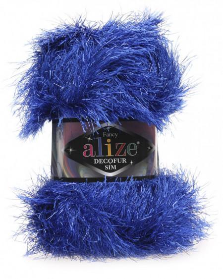 Poze Fir de tricotat sau crosetat - FANCY - ALIZE DECOFUR SIM - ALBASTRU - 141