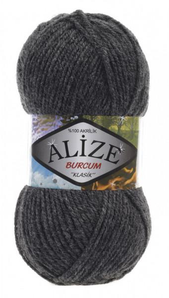 Poze Fir de tricotat sau crosetat - Fir ACRILIC ALIZE BURCUM KLASIK GRI 195