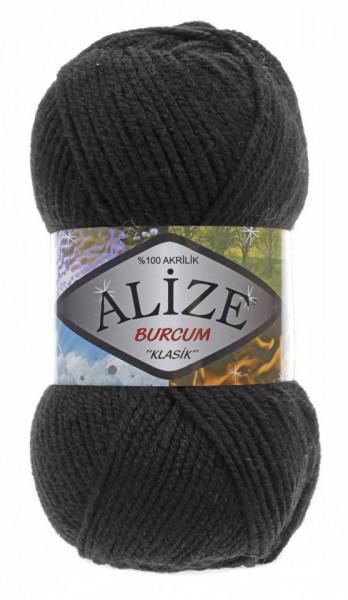Poze Fir de tricotat sau crosetat - Fir ACRILIC ALIZE BURCUM KLASIK NEGRU 60