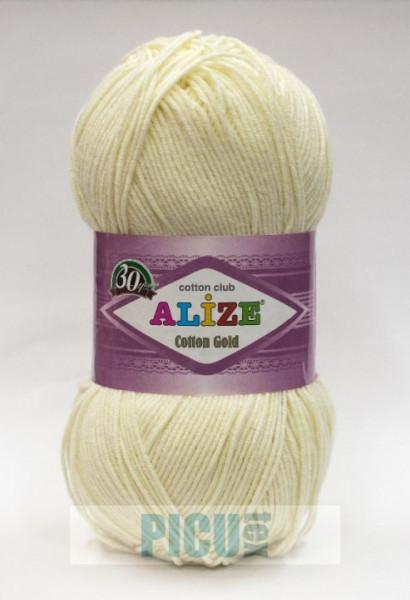 Poze Fir de tricotat sau crosetat - Fir ALIZE COTTON GOLD CREAM 01