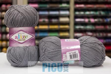 Poze Fir de tricotat sau crosetat - Fir ALIZE COTTON GOLD GRI 87